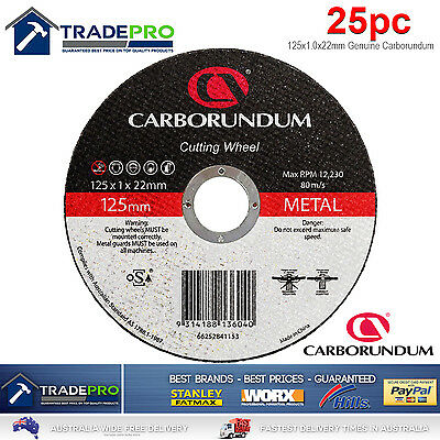 25x Metal Cut Off Wheel 125mm x22 1mm Flexovit Made Angle Grinder Cutting Discs 2