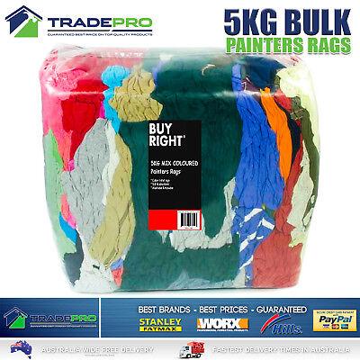 Bag of Rags Painters Cleaning Rags 5kg Bulk Pack Commercial Mechanics Soft Towel
