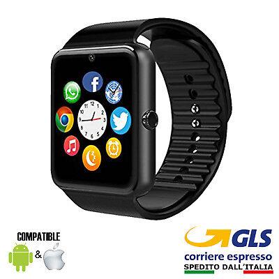 Orologio Telefono Smartwatch Android Ios Con Sim Bluetooth Micro Sd Gt08 Nero 2