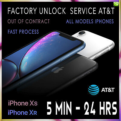 Factory Unlock Service For At&T Iphone 11 Xs Xr X 8 8+ 7+ 7 6 Clean Imei Fast 3