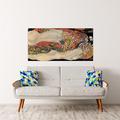 QUADRO GUSTAV KLIMT Sea Serpents Stampa su tela Canvas effetto dipinto 2