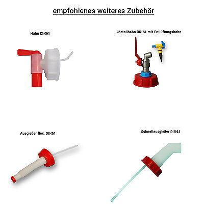 2x Leerkanister Kunststoffbehälter natur Kanisterdeckel Ausgießer flexibel  lang 7