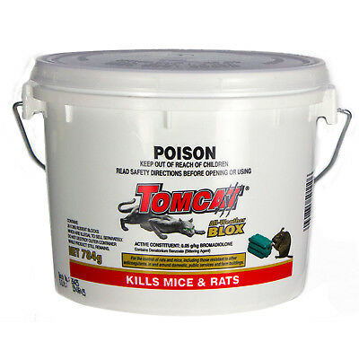 Tomcat Ultra All Weather Blox 784g PRO Rat Bait Mouse Trap Poison Rodent Killer