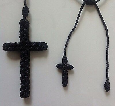 Black Knotted Nylon Cord ROSARY+ Black Decenario 3
