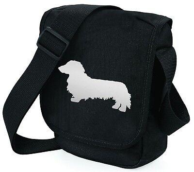 Dachshund Long haired NuHide Saddle Bag Handbag