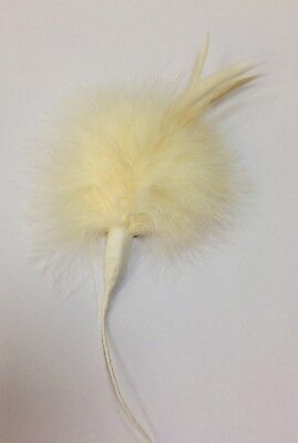 John Lewis feather mount spray fascinator hat millinery pheasant /marabou /coque 2