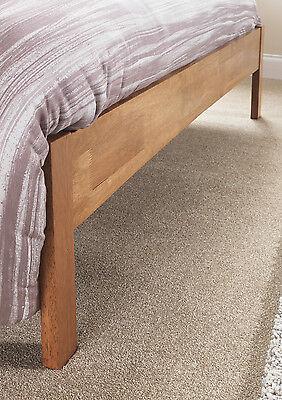 Hevea Hard Wood Bed Frame HONEY OAK Finish, OPAL WHITE, or GREY Finish Bedstead 9