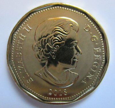 2018 Canada $1 Dollar Brilliant Uncirculated First Strike Loonie Coin 2