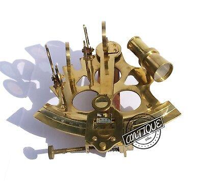"Valentine Nautical Sextant Ship Instrument Astrolabe Marine Brass Sextant 6"" 4"