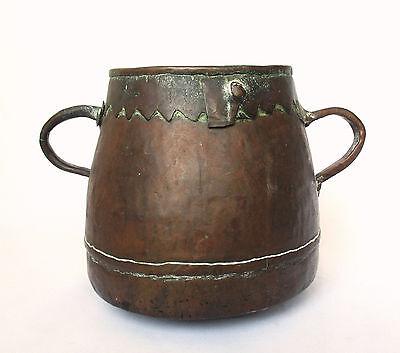 1700's, Rare Ancient 1.4kg Copper Casting Pot , Islamic Ottoman Mamluk Style 2