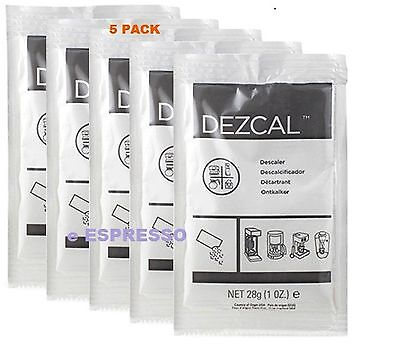 URNEX DEZCAL COFFEE MAKER & ESPRESSO DESCALER - 5 PACK & Backflush Disk Blind 2