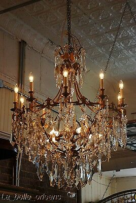 French Crystal Chandelier 15 Lights. 5 Ft Tall , Must See!! 10