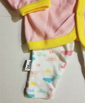 408196b05 DISNEY WINNIE THE Pooh Infant Baby Girl 4 Pc Outfit 0-3 3-6 6-9 M ...