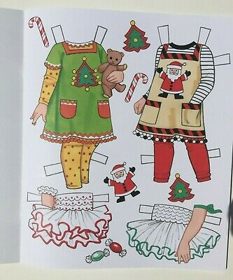 *NEW!* CANDY CANE CHRISTMAS Paper Dolls - Super cute! By Eileen Rudisill Miller 3