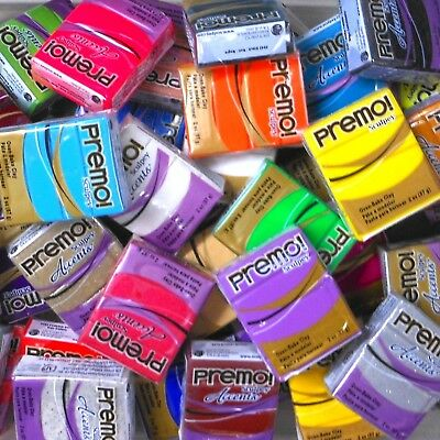 Sculpey PREMO & Accents Polymer Clay 57gm Blocks + Free Bags + Flat Rate Postage 3