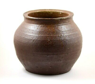 Japan Meiji Period old large Tanba-yaki glazed pottery jar 2
