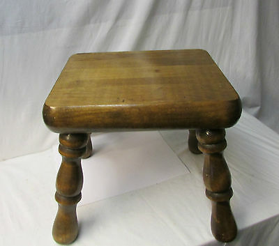 Antique Rustic Solid Wood Stool - Sturdy Stool 2