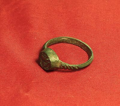 Extra Ancient Roman Seal Ring, Finger Ring, 4. Century, Rabbit Seal, Rare! 4