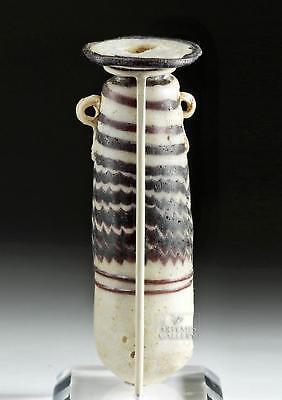 Gorgeous Greek Glass Core-Form Alabastron Lot 12