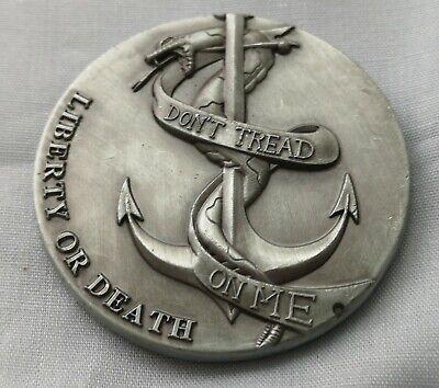 LIBERTY Bell Silver Coin Eagle Anchor Snake 3D Antique Americana Pennsylvania US 2