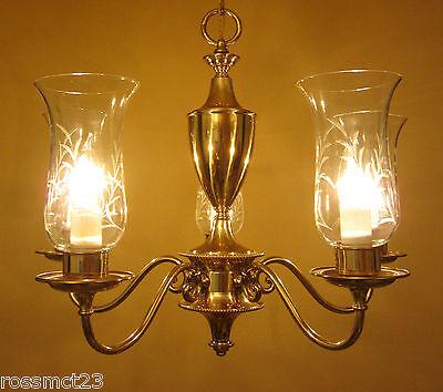 Vintage Lighting mid century 1950s chandelier by Framburg 3