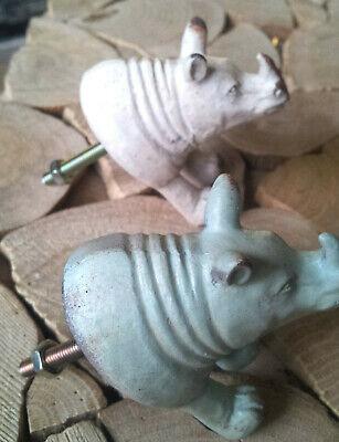 Elefant Kopf Möbelknauf Möbelknopf Möbelgriff Tiere Boudoir Vintage Shabby