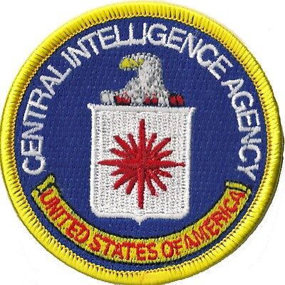 Patch Écusson thermocollant patche CIA Central Intelligence Agency badge 2