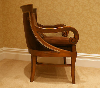 2 Armchairs/Dining Chairs Carved Solid Mahogany? Wood 3