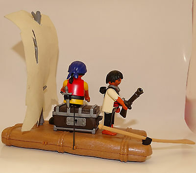 PLAYMOBIL A2101 PIRATES Support Mat Radeau /& Echafaudage Funéraire Indien