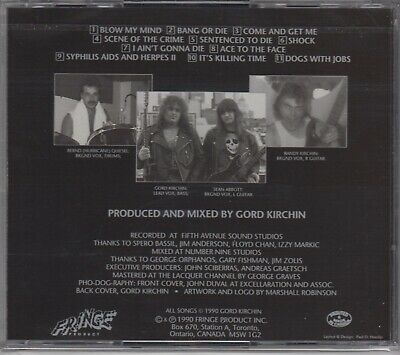 DOGS WITH JOBS Shock CD Canadian Metal 1990 PILEDRIVER 2