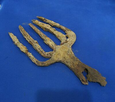 ANCIENT ROMAN CELTS BYZANTINE TURKISH FISHING SPEAR HARPOON GIG field relic 2