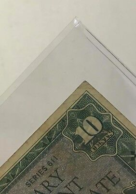 Banknotes Sleeves Fractional Size US 100 Small 5 Mil Supersafe Archival Currency 2