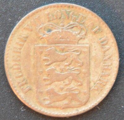 Dänisch-Westindien 1 Cent 1860  (Altona)