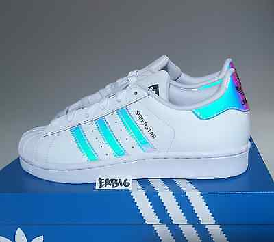 45811936014 ... Adidas Superstar J Junior Iridescent Hologram GS AQ6278 Boys Girls  Shell Toe 5