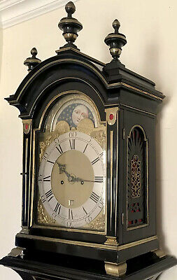 Blagden Chichester 18thc  Longcase in The Form of a Bracket Clock on Pedestal 4