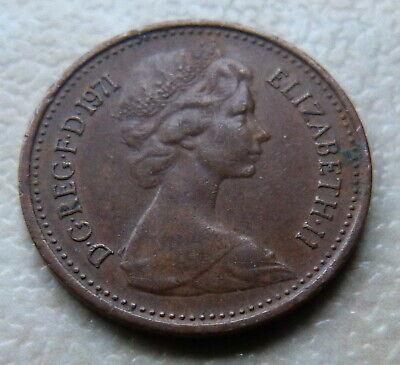1971 - 1/2p  HALF NEW PENNY COIN - ELIZABETH II - UK 3