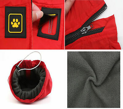 Waterproof Warm Winter Dog Coat Clothes Dog Padded Fleece Pet Vest Jacket Large 4