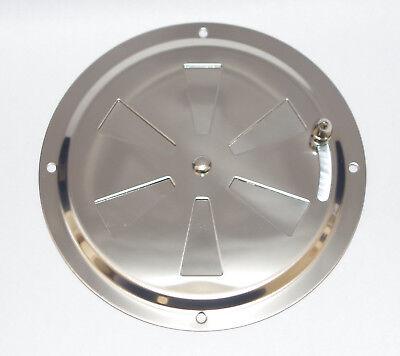 Grille d'aération Ronde Réglable 128mm Avec Moustiquaire inox 316 - A4 5
