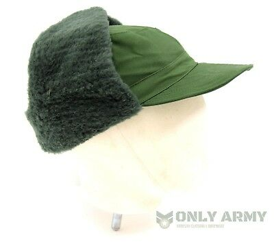 581ae2d0cc2 1 of 8FREE Shipping Swedish Army Cold Weather Hat Winter Trapper Olive  Green Military Surplus NEW