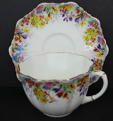 Paragon Daisy Vintage Bone China Tea Cup and Saucer Floral Flowers England 2