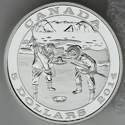 2014 Proof $5 Tradition of Hunting #3-Seal Harmony .9999 Silver COIN /& COA ONLY