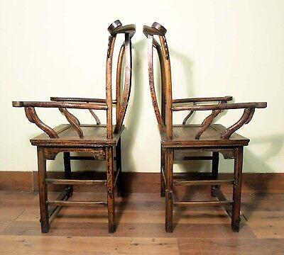 Antique Chinese High Back Arm Chairs (5511) (Pair), Circa 1800-1849 12