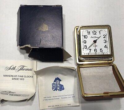 Vintage Phinney Walker Black Dial & New Seth Thomas Travel Alarm Clocks-Estate 4