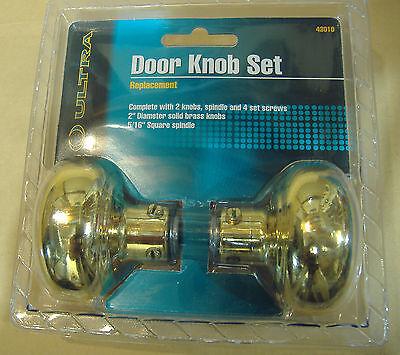 Brass Finish Door Knobs Vintage Style 2