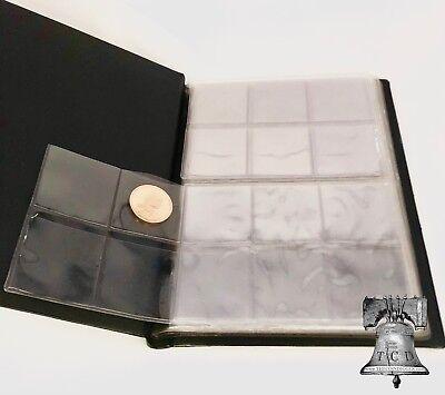 96 Pocket Coin Album Wallet Holder Lighthouse 8 Sheet Pages NUMIS Half Dollar 5