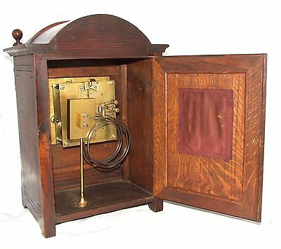 Antique Oak & Brass TING TANG Bracket Mantel Clock WINTERHALDER HOFFMEIER W & H 11