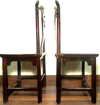 Antique Chinese High Back Chairs (5614) (Pair), Circa 1800-1849 11