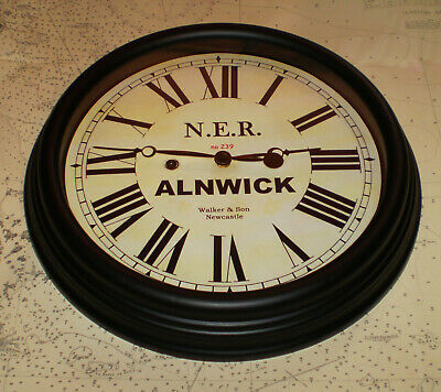 North Eastern Railway, NER Victorian Style Waiting Room Clock, Alnwick Station. 3