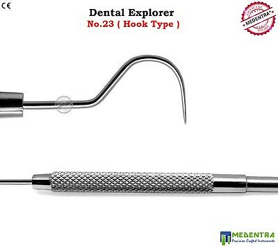 Dental Examination Single Ended Explorer Hook Type Dentist Hygienist Probe New 2