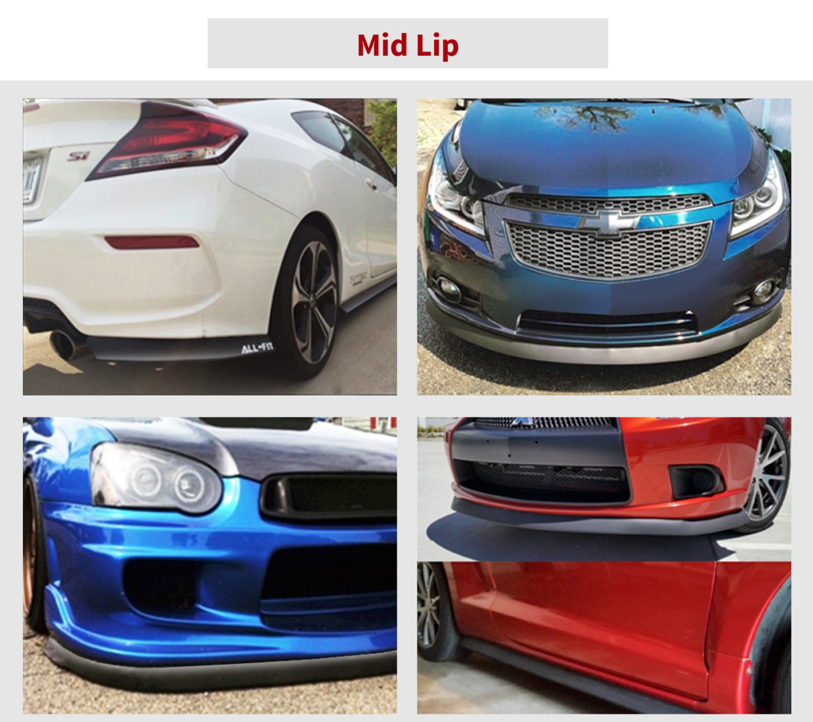 ORIGINAL ALL-FIT LIP KIT M Universal Spoiler Lippe Frontspoiler Seitenschweller 2